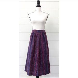 Vintage 70s Woven Midi Skirt